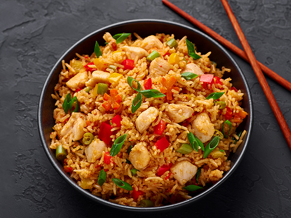 Fried Rice with Chicken in Hot Garlic Sauce Rice Bowl